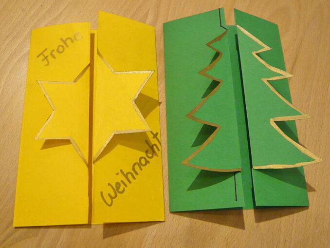 Weihnachtskarten zum Aufklappen